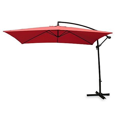buy rectangular offset umbrella in salsa from bed bath beyond