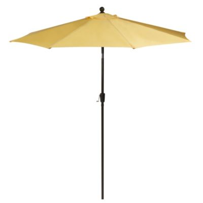 Aluminum 9-Foot Round Market Umbrella in Buttercup