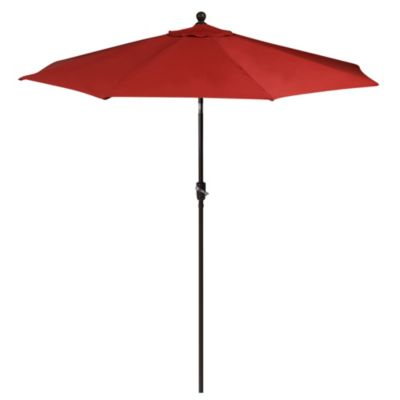 Aluminum 9-Foot Round Market Umbrella in Salsa