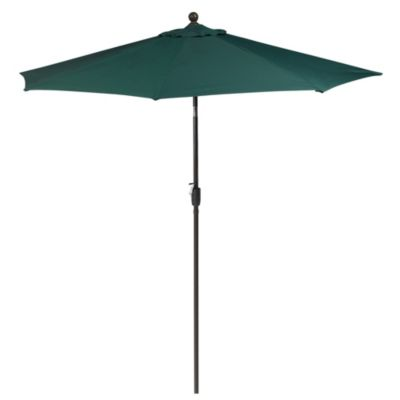 9-Foot Round Aluminum Patio Umbrella in Hunter Green