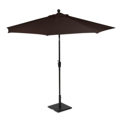 9-Foot Round Aluminum Patio Umbrella in Chocolate