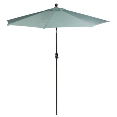 9-Foot Outdoor Round Umbrella with Aluminum Frame in Seaglass