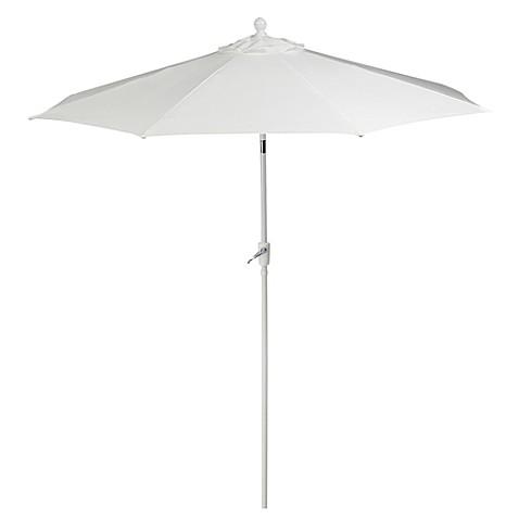 9 foot aluminum patio umbrella in white bed bath