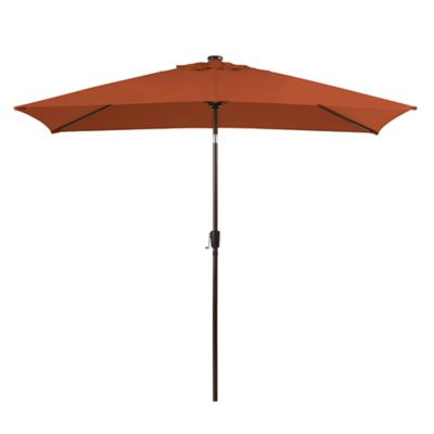 11.5-Foot Rectangular Aluminum Umbrella in Cinnamon