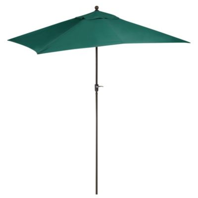 11.5-Foot Rectangular Aluminum Umbrella in Hunter Green