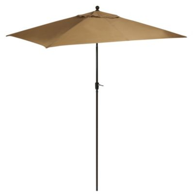 10-Foot Aluminum Rectangular Umbrella in Taupe