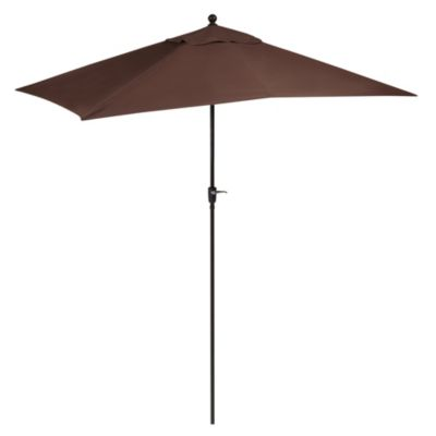 10-Foot Aluminum Rectangular Umbrella in Chocolate