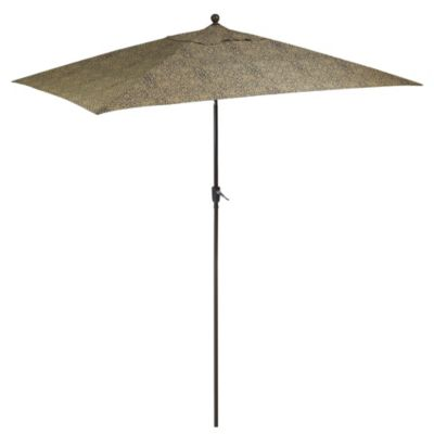 10-Foot Aluminum Rectangular Umbrella in Bali Tile
