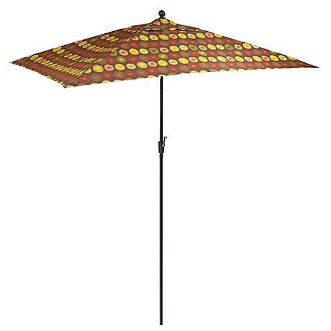 11.5-Foot Rectangular Aluminum Umbrella in Parasol