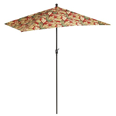 10-Foot Aluminum Rectangular Umbrella in Sarasota Palm