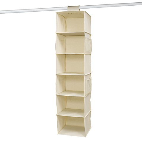 6-Shelf Canvas Sweater Organizer
