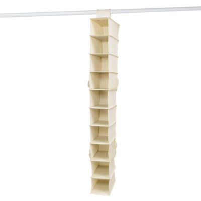 10-Shelf Canvas Shoe Organizer