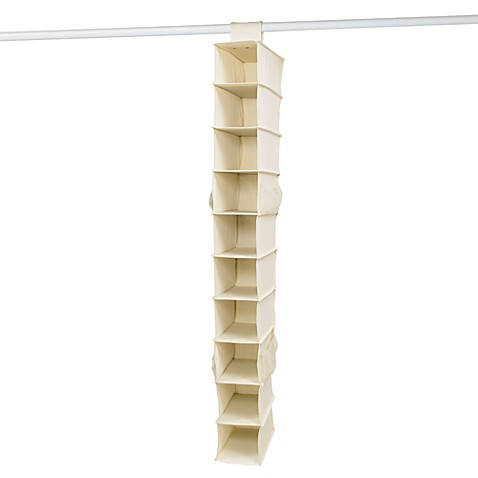 10 shelf canvas shoe organizer bed bath beyond