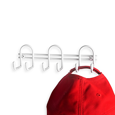 Mini Key Hook Rack in White