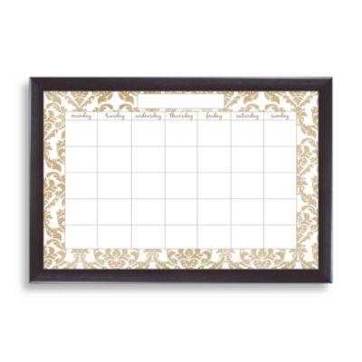 Dry Erase Elegant Monthly Calendar