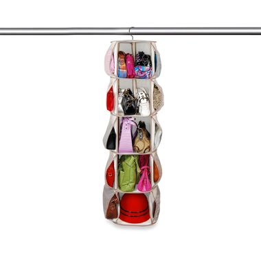 Smart Carousel Spinning Purse and Hat Organizer