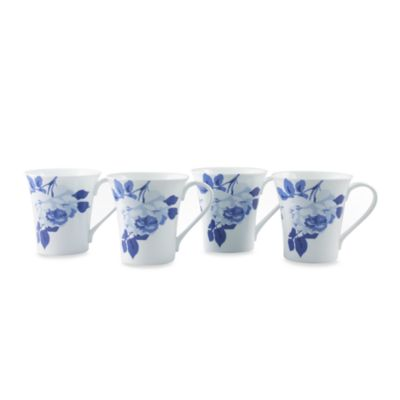 Indigo Rose 10-Ounce Mug (Set of 4)