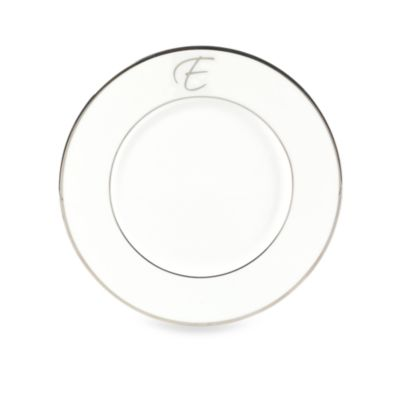 Color Studio Platinum Monogrammed Accent Plate