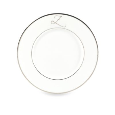 "Mikasa® Color Studio Platinum Monogrammed ""Z"" Accent Plate"