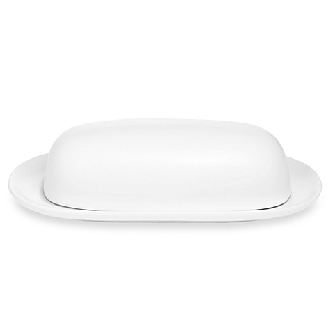 Noritake® Colorwave White Covered Butter Dish