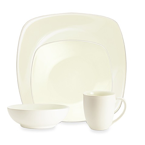 Noritake® Colorwave White Square 4-Piece Place Setting