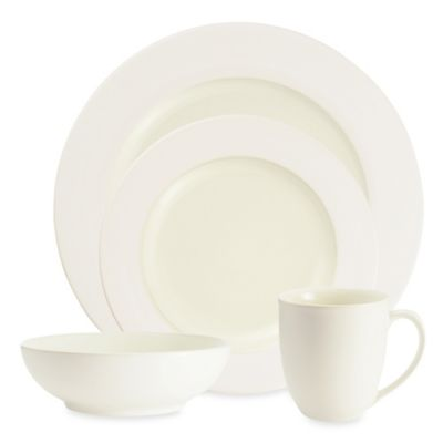 Noritake® Colorwave White Rim 4-Piece Place Setting