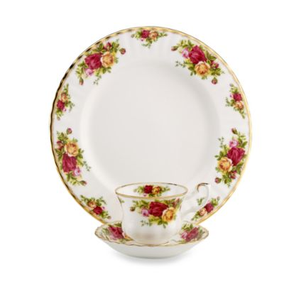 Royal Albert 12-Piece Dinnerware Set in Old Country Roses