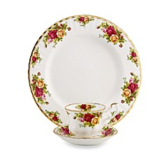 Royal Albert 12-Piece Dinner Set in Old Country Roses