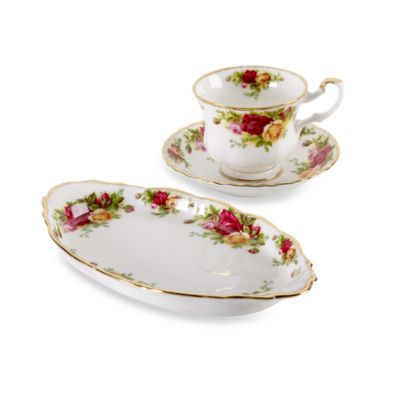 Royal Albert 9-Piece Tea Set in Old Country Roses