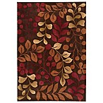 Nourison Contours Botanical Rug in Chocolate