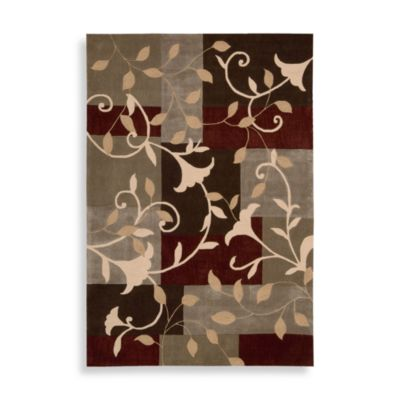 Nourison Contours 7-Foot 3-Inch x 9-Foot 3-Inch Trumpet Flower Rug