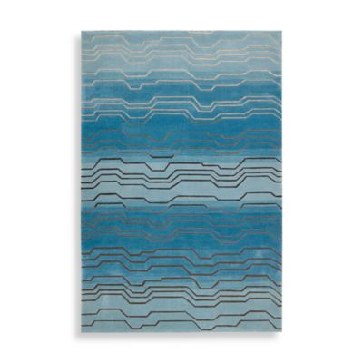 Nourison Contours 7-Foot 3-Inch x 9-Foot 3-Inch Room Size Rug in Azure