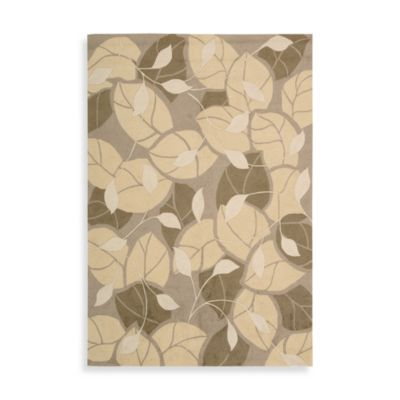 Nourison Fantasy Multi Color Leaf 2-Foot 6-Inch x 4-Foot Area Rug