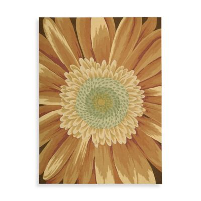 Nourison Fantasy Daisy 1-Foot 9-Inch x 2-Foot 9-Inch Accent Rug