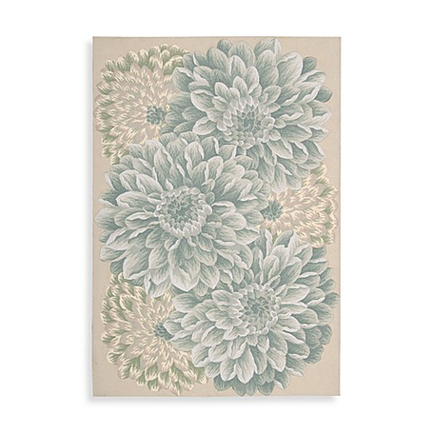 Nourison Fantasy 2-Foot 6-Inch x 4-Foot Chrysanthemum Area Rug in Light Green