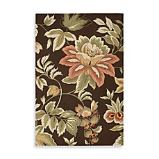 Nourison Fantasy Floral Rug in Chocolate