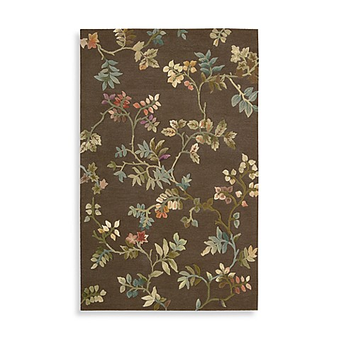 "Nourison Fantasy Brown Botanical 2' 3"" x 8' Runner"
