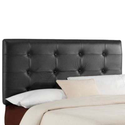 Jason Leather Headboard in Black