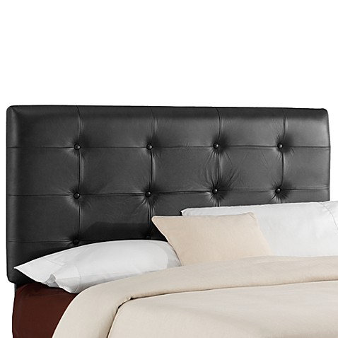 Skyline Furniture Jason Leather Headboard in Black