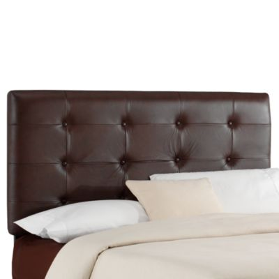 Jason Leather Headboard in Brown