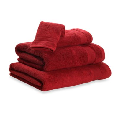 Microdry® Hand Towel in Deep Red
