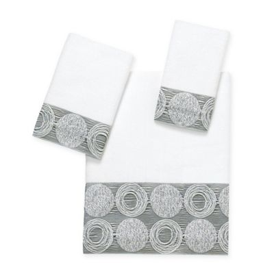 Avanti Galaxy Hand Towel in White