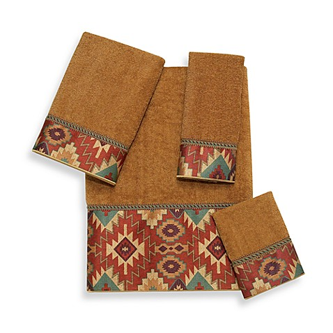 Avanti Tucker Washcloth in Nutmeg