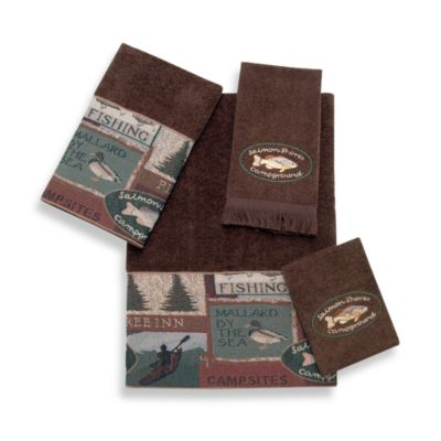 Avanti Pineland Fingertip Towel in Mocha