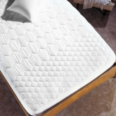 Tri Zone Twin Mattress Pad in White