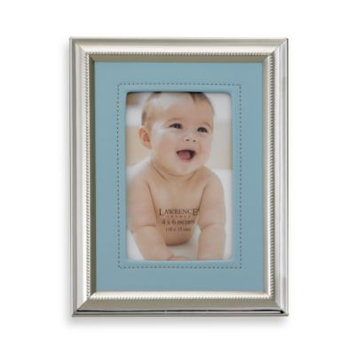 Lawrence Frames Leatherette and Silver Plated Photo Frame in Blue
