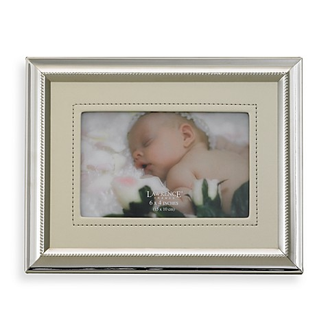 Lawrence Frames Leatherette and Silver Plated Photo Frame in Ivory