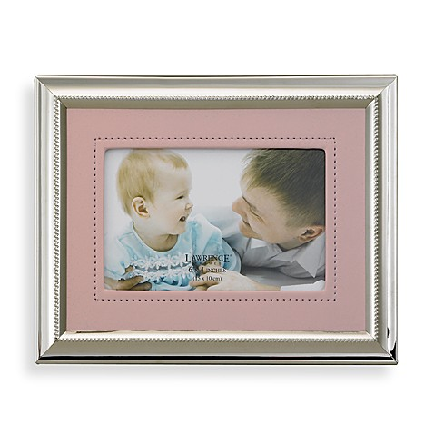 Leatherette and Silver Plated Photo Frame in Pink