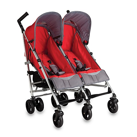 Buy Simmons 174 Tour Dx Side By Side Double Stroller In Red