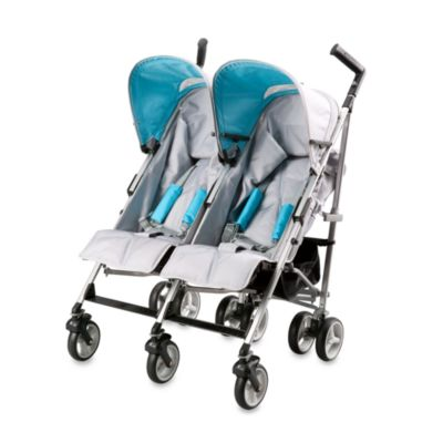 Simmons® Tour DX Side by Side Double Stroller in Silver